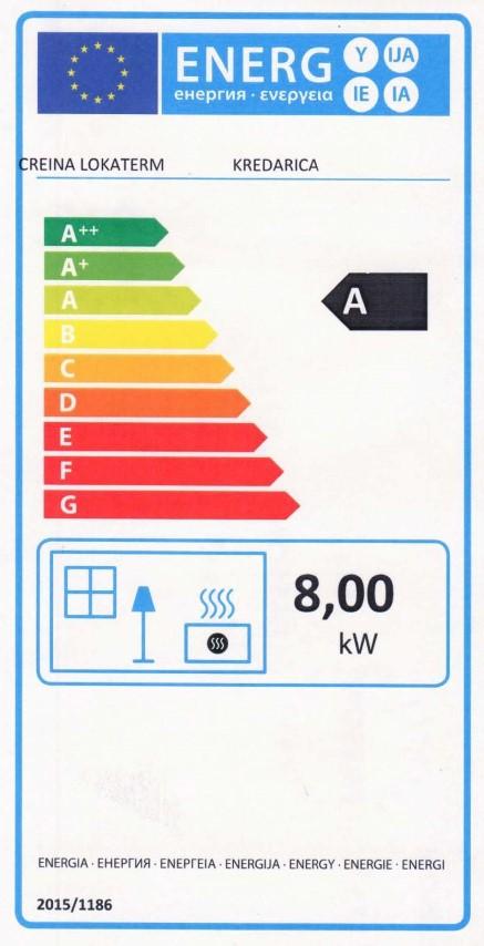 Energijska nalepka KREDARICA (Small)