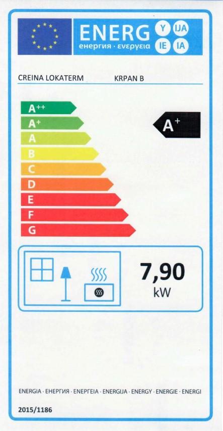 Energijska nalepka KRPAN B (Small)