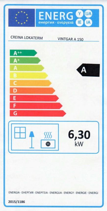 Energijska nalepka VINTGAR 150 A (Small)